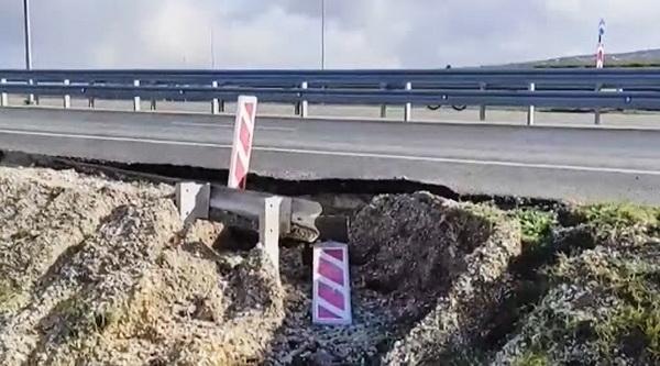 Эпичный провал: в Сети показали видео разрушения дороги под оккупированным Симферополем