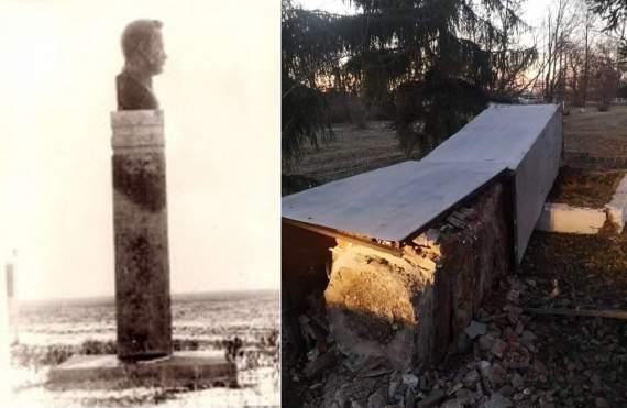 На Полтавщине декоммунизировали памятник Фрунзе