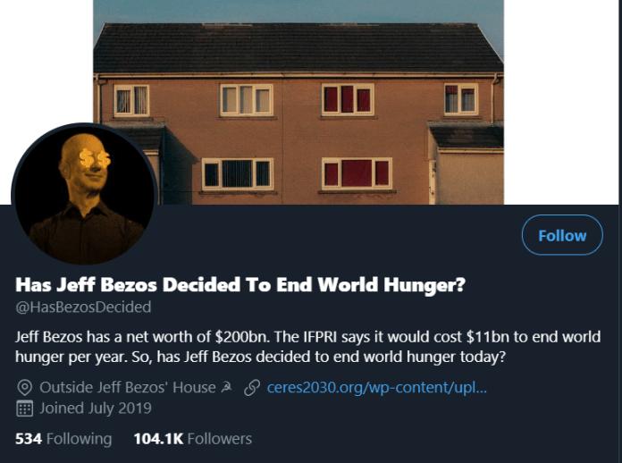 Почему Джефф Безос не покончит с голодом в мире