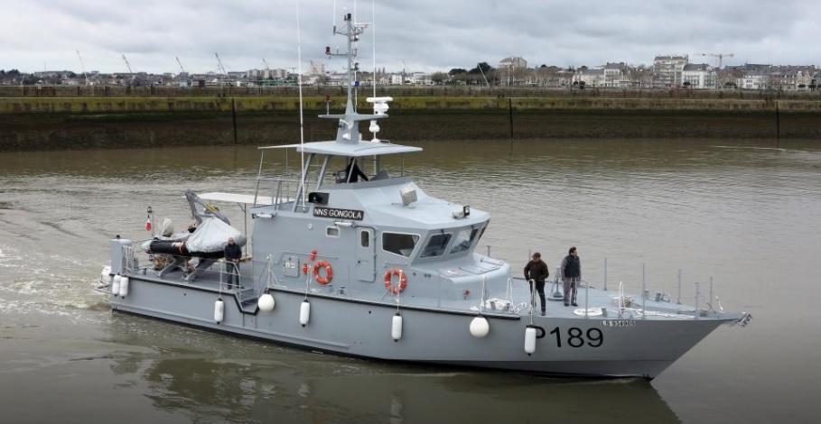 Україна прийняла перший корпус французького сторожового катера для Морської охорони. ВІДЕО