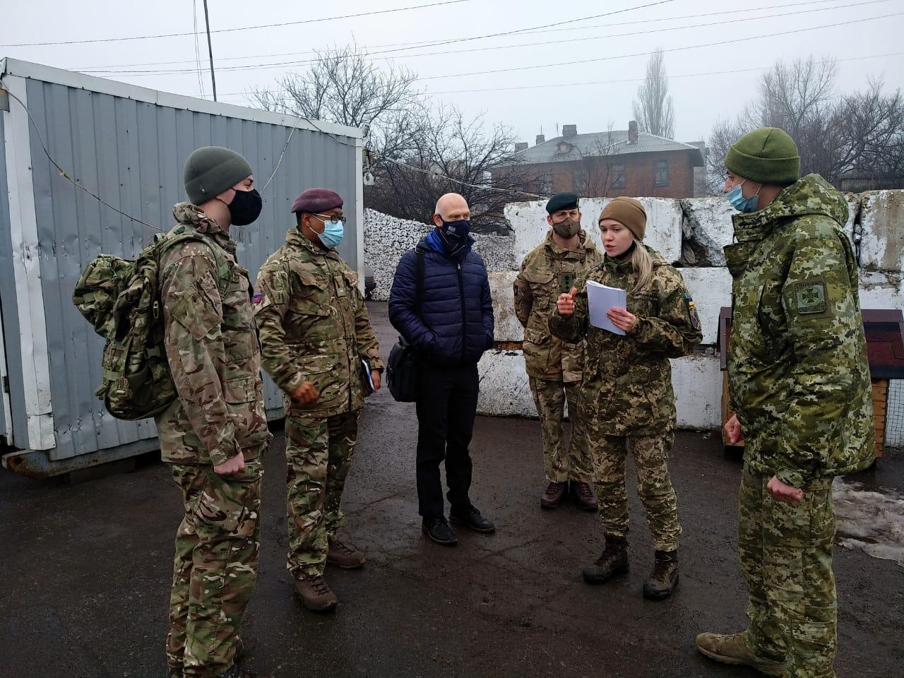 Делегація Збройних Сил Великої Британії відвідала район проведення ООС