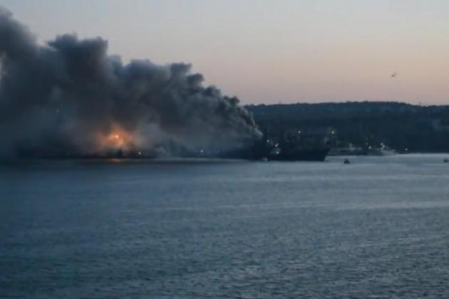 В Японском море взорвался российский военный корабль: подробности