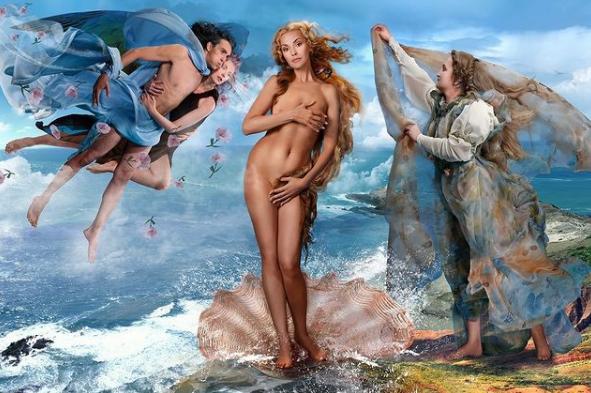 """"""" Видаліть це!"""" Актриса Ольга Сумська повторила образ Венери з картини Сандро Боттічеллі, прикривши руками інт#мні місця. (ФОТО)"""