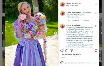 """Украинка отрастила двухметровые волосы и поразила красотой: """"Настоящая Рапунцель"""""""