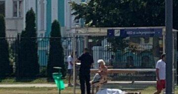 Трагедия возле церкви в Харькове, на земле лежит тело человека: фото с места
