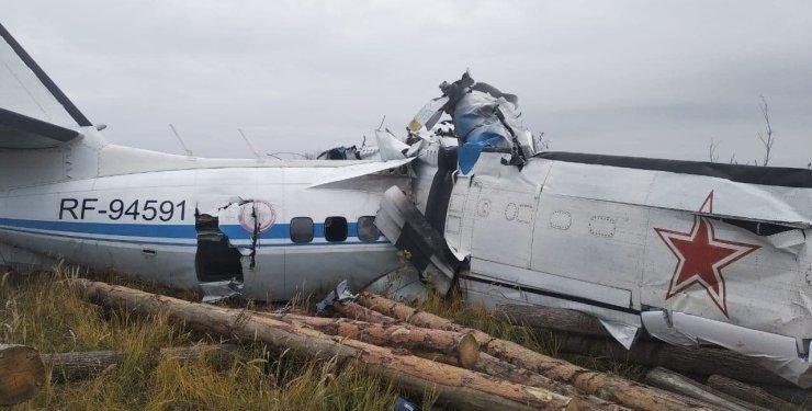 Кадри нещодавнього паління літака в Татарстані.